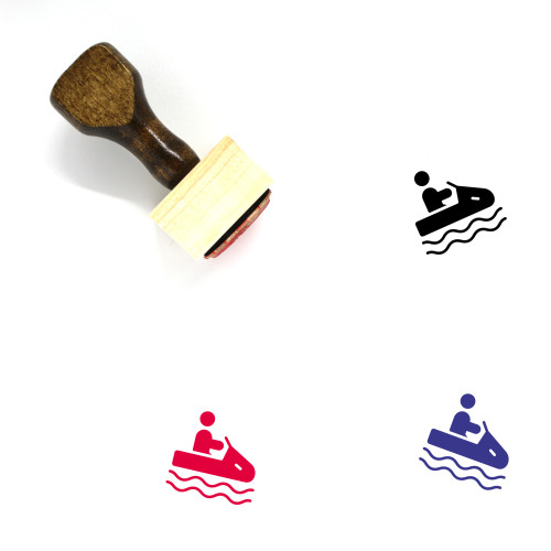 Water Sports Wooden Rubber Stamp No. 1