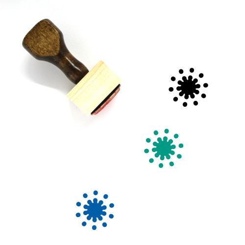 Fireworks Wooden Rubber Stamp No. 133