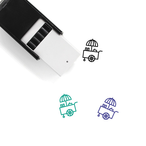 Food Cart Self-Inking Rubber Stamp No. 8