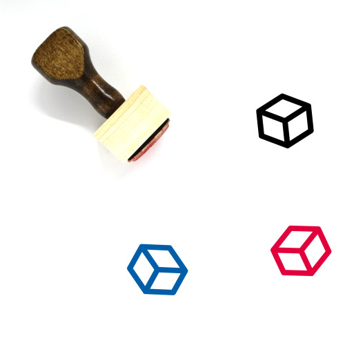 Cube Wooden Rubber Stamp No. 71