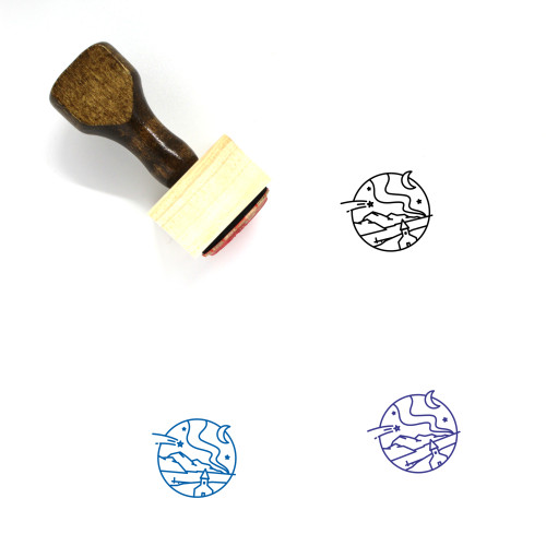 Iceland Wooden Rubber Stamp No. 14