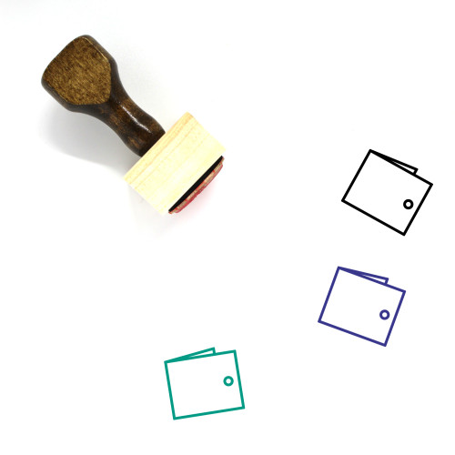 Wallet Wooden Rubber Stamp No. 157