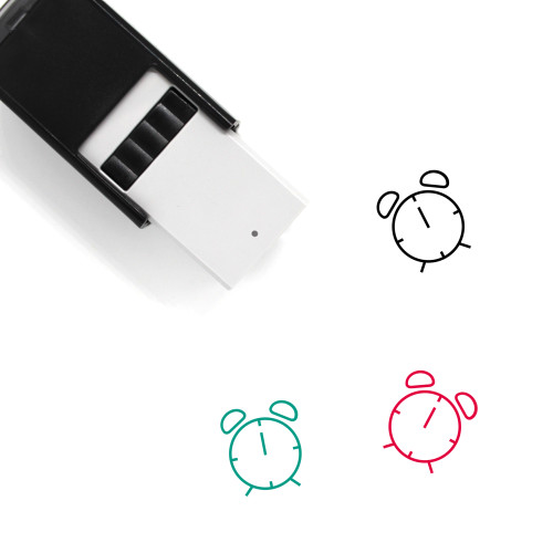 Alarm Clock Self-Inking Rubber Stamp No. 3