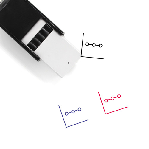 Line Graph Self-Inking Rubber Stamp No. 57