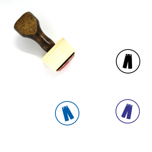 Pants Wooden Rubber Stamp No. 105