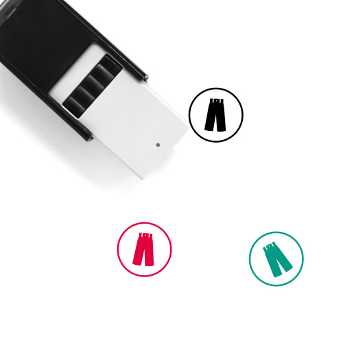 Pants Self-Inking Rubber Stamp No. 105