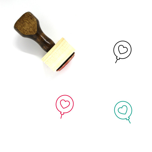 Balloon Wooden Rubber Stamp No. 149
