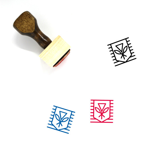 Native Hawaiian Flag Wooden Rubber Stamp No. 1