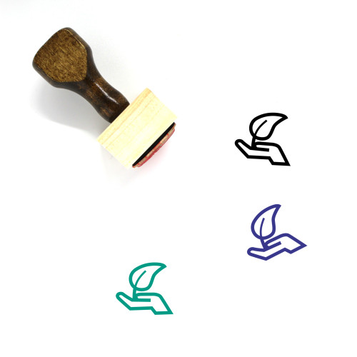 Natural Wooden Rubber Stamp No. 12