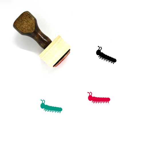 Caterpillar Wooden Rubber Stamp No. 33