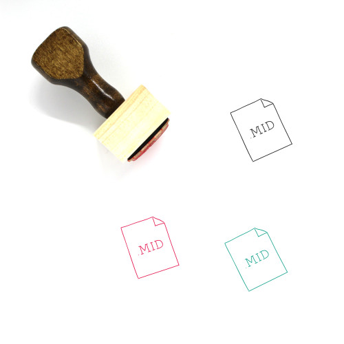.MID File Wooden Rubber Stamp No. 7