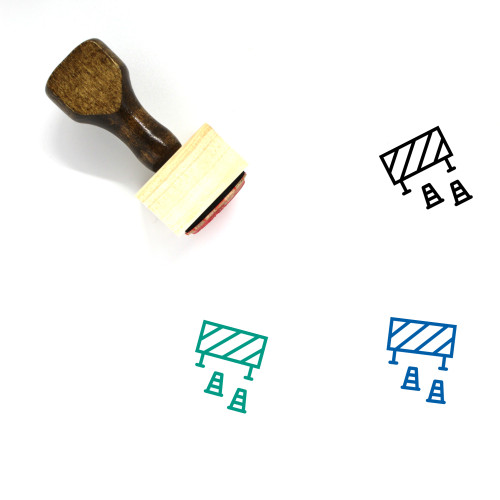 Accident Wooden Rubber Stamp No. 17