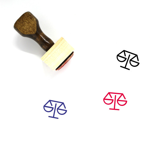 Law Wooden Rubber Stamp No. 257