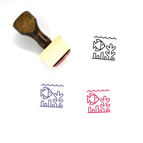 Coral Reef Wooden Rubber Stamp No. 5