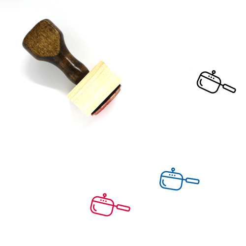 Cooking Pot Wooden Rubber Stamp No. 89