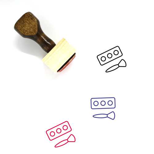 Makeup Wooden Rubber Stamp No. 125