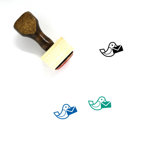 Dove Letter Wooden Rubber Stamp No. 12
