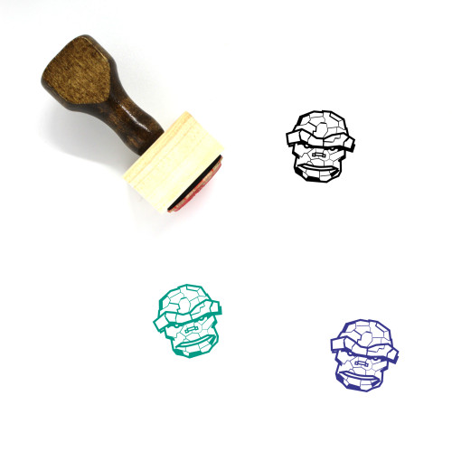 The Thing Wooden Rubber Stamp No. 3