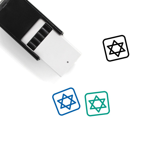 Star Of David Self-Inking Rubber Stamp No. 36