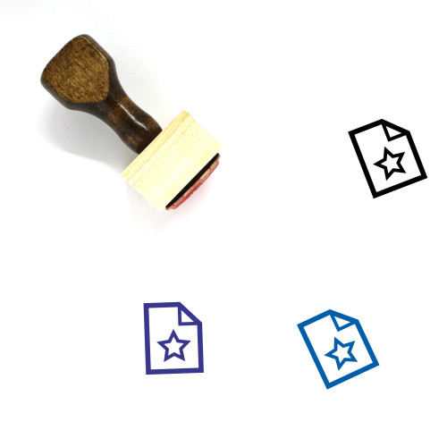Favorite Document Wooden Rubber Stamp No. 31