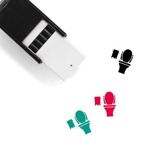 Toilet Self-Inking Rubber Stamp No. 166