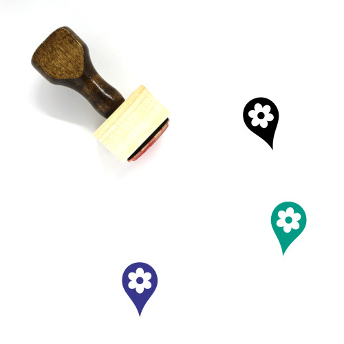 Map Marker Wooden Rubber Stamp No. 276
