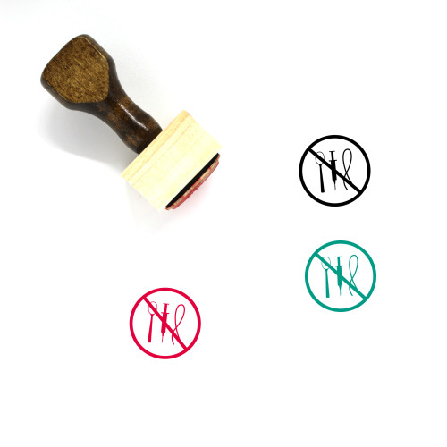 No Heroin Wooden Rubber Stamp No. 1