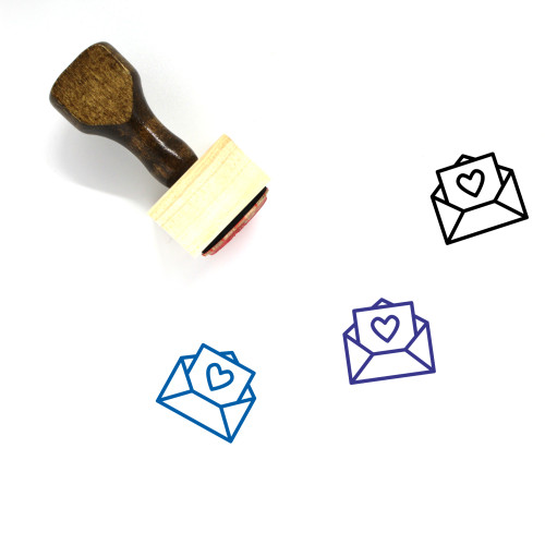 Card Wooden Rubber Stamp No. 86