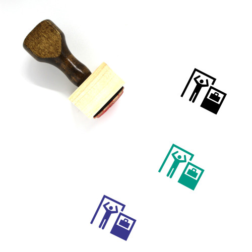 Airport Security Wooden Rubber Stamp No. 5