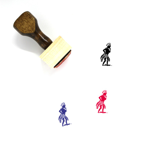 African Wooden Rubber Stamp No. 21