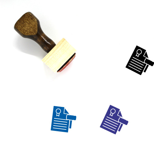 Legal Document Wooden Rubber Stamp No. 6