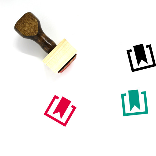 Bookmark Wooden Rubber Stamp No. 178