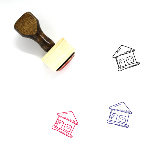 Shack Wooden Rubber Stamp No. 12