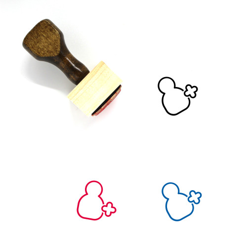 Add User Wooden Rubber Stamp No. 60