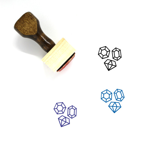 Jewels Wooden Rubber Stamp No. 19