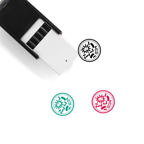 Microbes Self-Inking Rubber Stamp No. 7