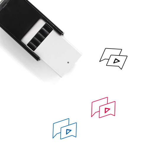 Send Video Self-Inking Rubber Stamp No. 5