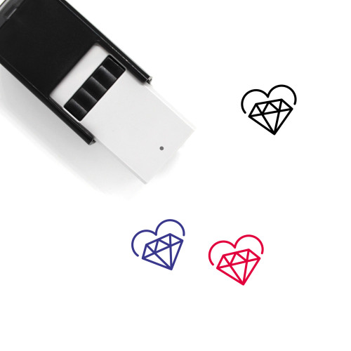 Diamond Heart Self-Inking Rubber Stamp No. 9
