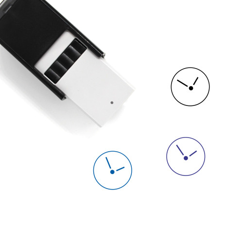 Clock Self-Inking Rubber Stamp No. 641