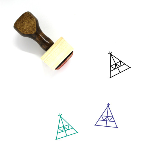 Tee Pee Wooden Rubber Stamp No. 2