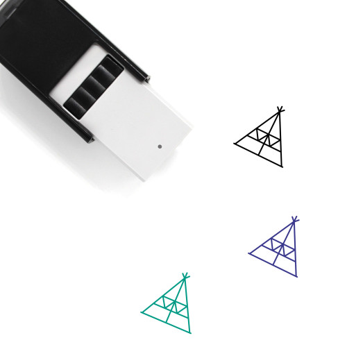 Tee Pee Self-Inking Rubber Stamp No. 2
