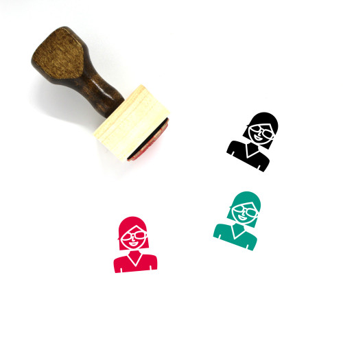 Avatar Female Wooden Rubber Stamp No. 13