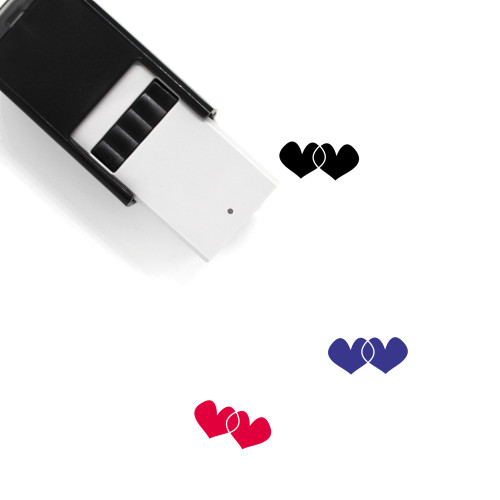 Hearts Self-Inking Rubber Stamp No. 271