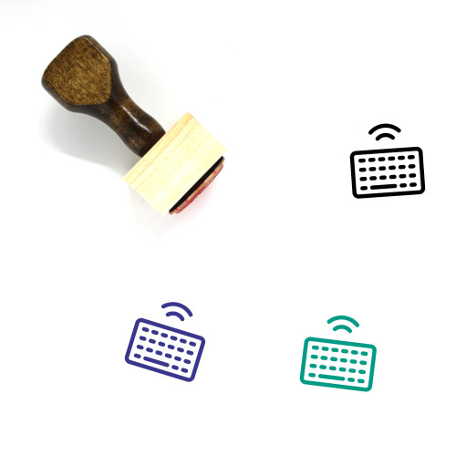 Wireless Keyboard Wooden Rubber Stamp No. 39
