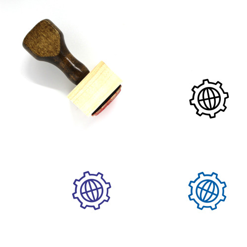 Global Wooden Rubber Stamp No. 149