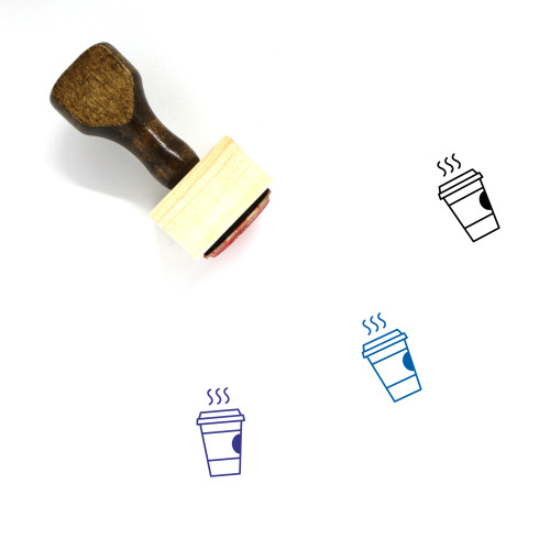 Coffee Wooden Rubber Stamp No. 135