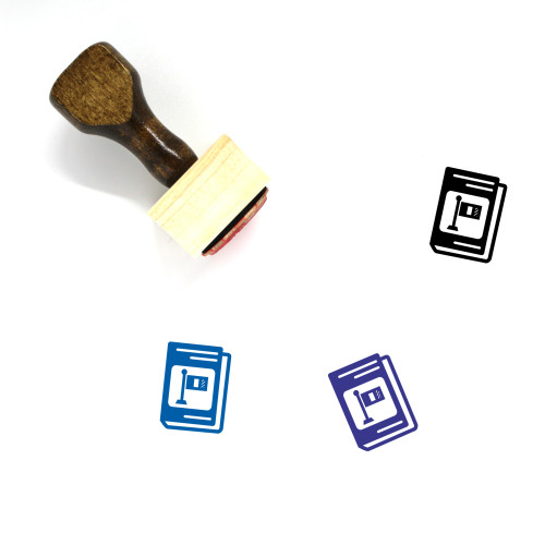 Languages Textbook Wooden Rubber Stamp No. 1