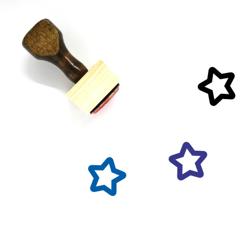 Star Wooden Rubber Stamp No. 860