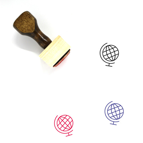 Globe Wooden Rubber Stamp No. 1281