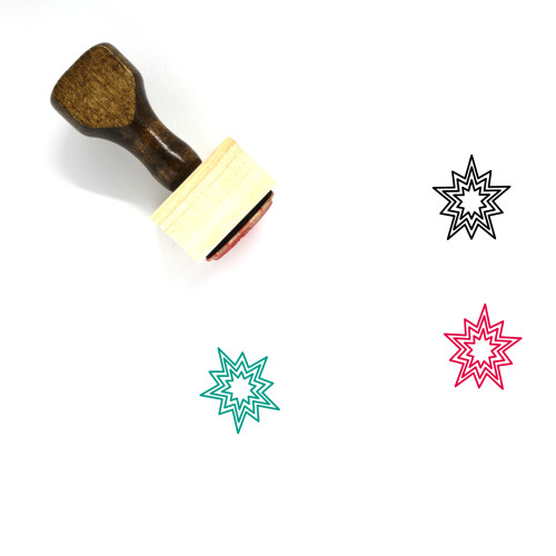 Explosion Wooden Rubber Stamp No. 42